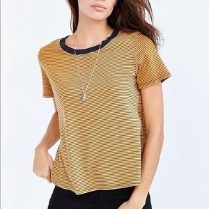 Urban Outfitters Striped Ringer Tee